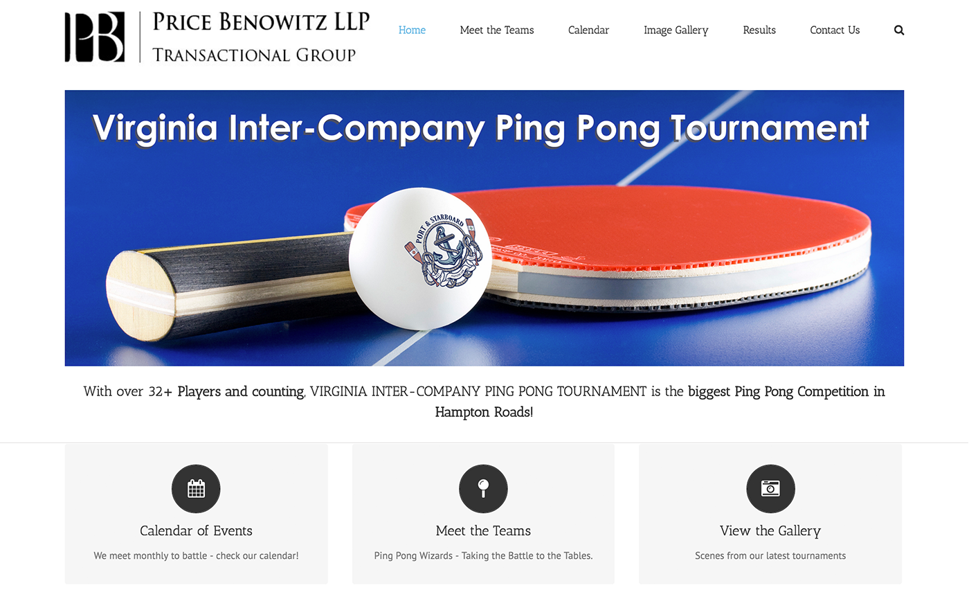ping pong website